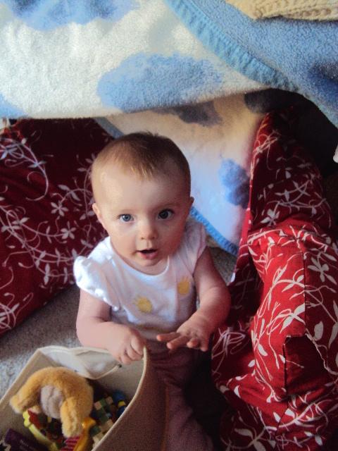 She loves her blanket forts.