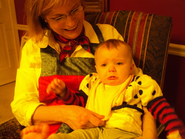 Taken approximately 11 1/2 hours into Christmas. It was a long day but she (and Grammy) were good sports.