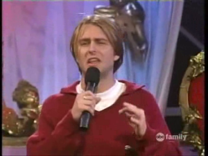 In this picture, Chris Hardwick's hair is really enjoying the '90's. Also, I am slightly concerned that ABC Family ever televised Singled Out.