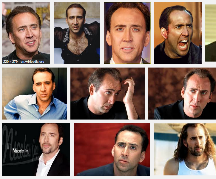 If you took all these pictures and laid them on top of each other, you'd get the lead singer to Nickelback.