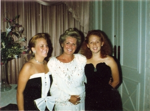 Me, far right, with my mom and sister (1986). I was a sister, a daughter, and single...