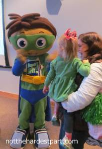 C was fascinated yet terrified with Super Why.
