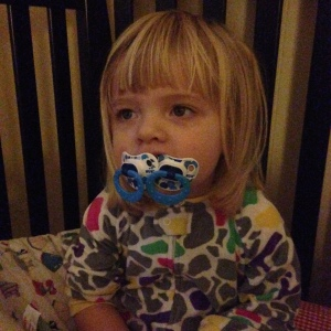 Upon telling her to remove one pacifier from her mouth, Cee promptly inserted another, thus eliciting I-can't-evens from both me and my husband.