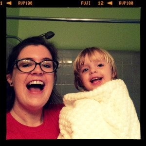 Emily Austin with her daughter