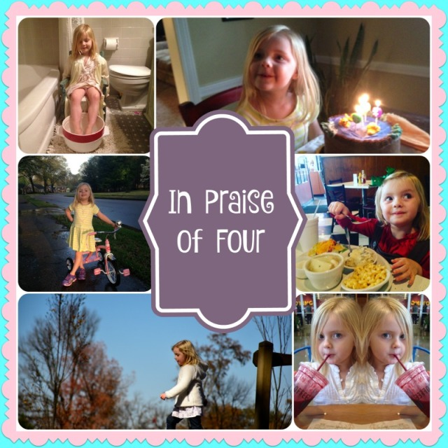 In Praise of Four collage